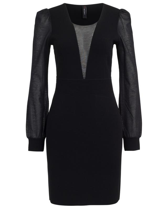 Viscose blend midi dress with transparent sleeves MARC CAIN
