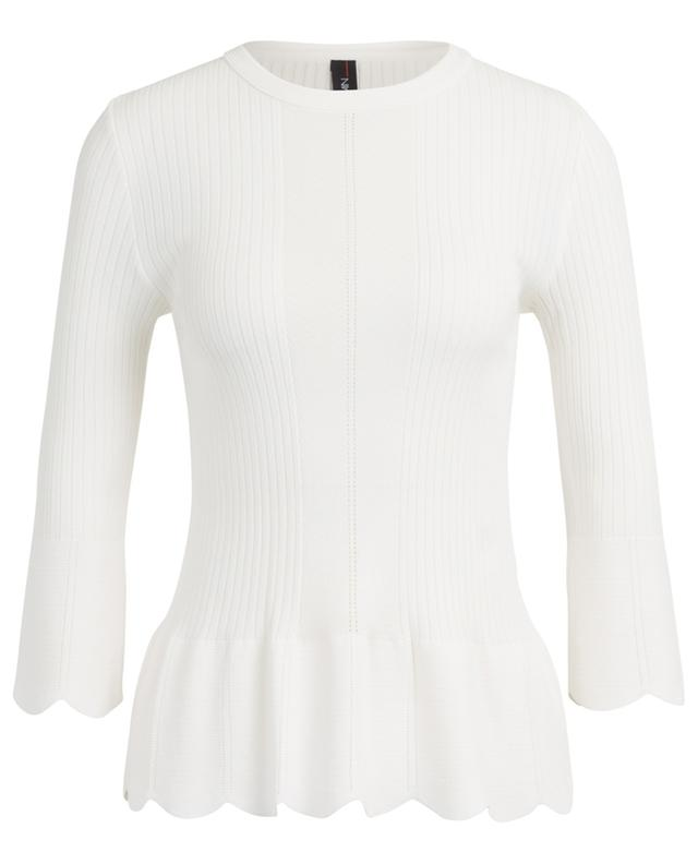 Scalloped slim round neck jumper MARC CAIN
