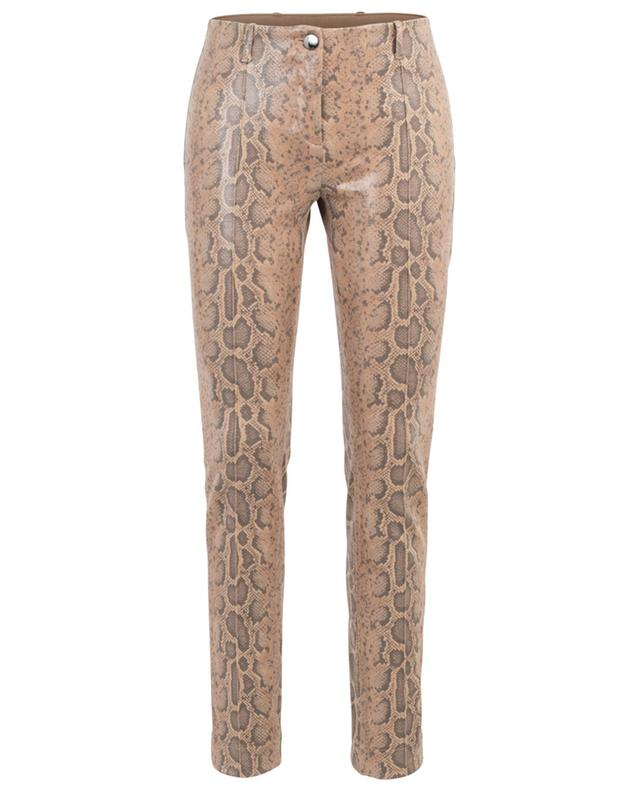 Snake skin effect slim fit trousers MARC CAIN
