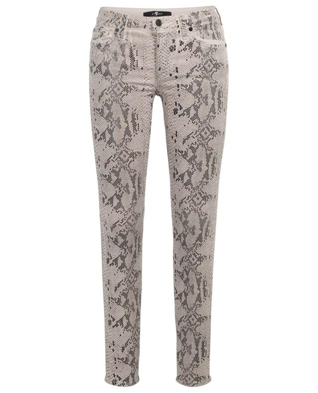 Jeans in Schlangenhautoptik The Skinny Coated Champagne 7 FOR ALL MANKIND