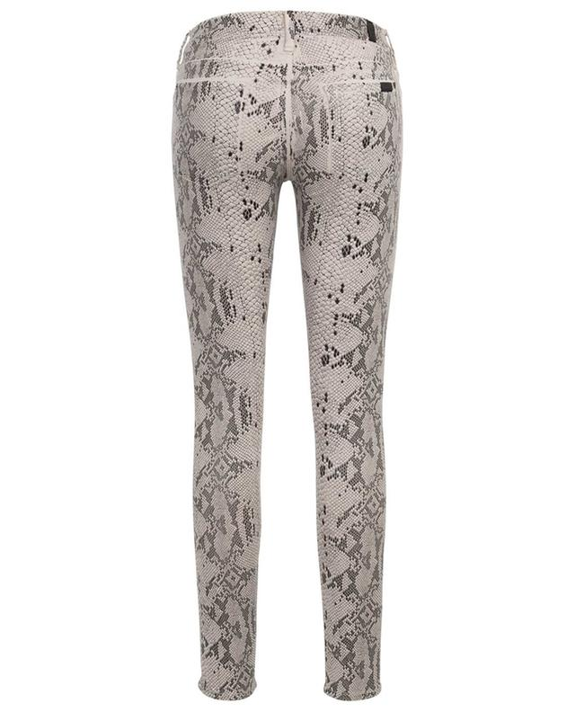 Jean effet peau de serpent The Skinny Coated Champagne 7 FOR ALL MANKIND