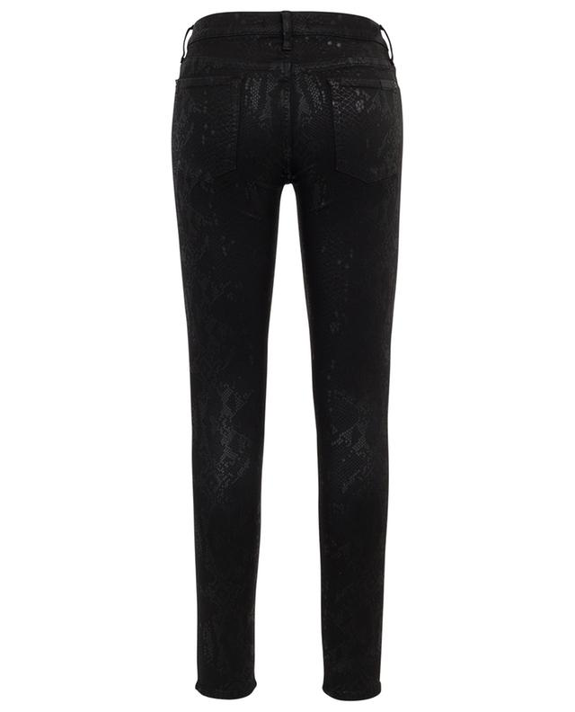 Jeans in Schlangenhautoptik The Skinny Coated Black 7 FOR ALL MANKIND