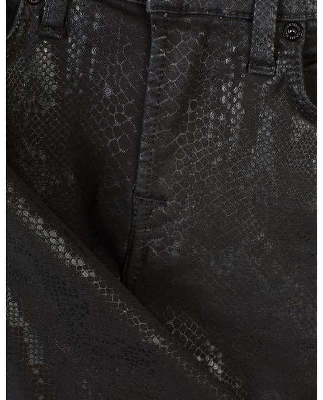 The Skinny Coated Black snake skin print jeans 7 FOR ALL MANKIND
