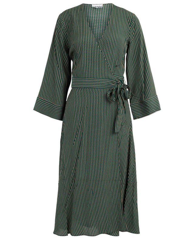 Printed wrap dress GANNI