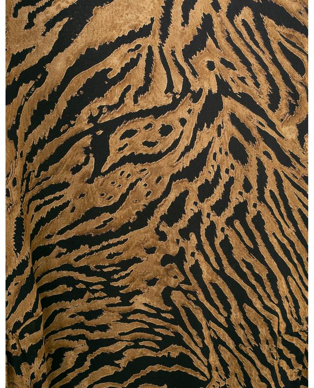 Robe trapèze midi imprimée tigre GANNI