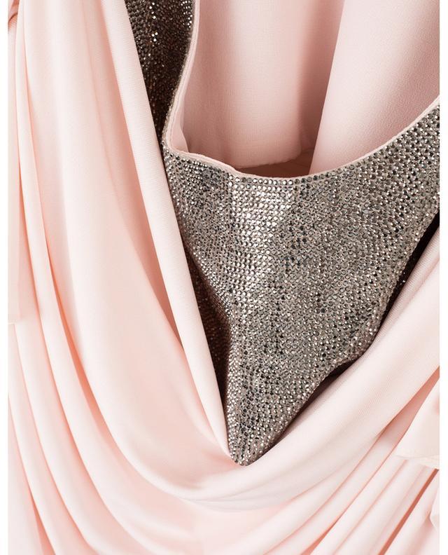 Minirobe drapée à bretelles ornées de cristaux PHILOSOPHY