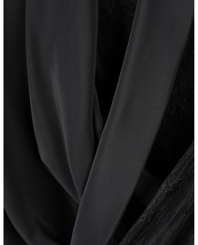 Robe midi asymétrique en soie mélangée et dentelle PHILOSOPHY