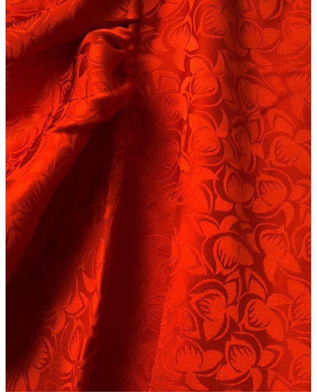 Alena Ibis Flower long floral satin dress SALONI