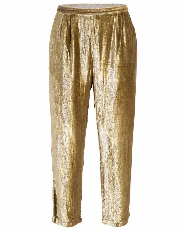 Pantalon droit doré Holmes MES DEMOISELLES