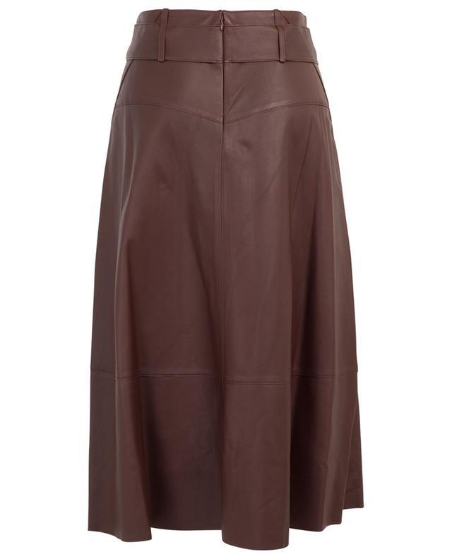 A-line midi skirt in lambskin VINCE
