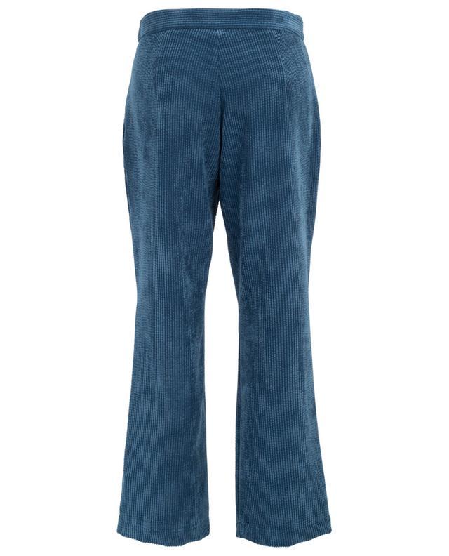 Ilona velvet wide leg trousers TOUPY