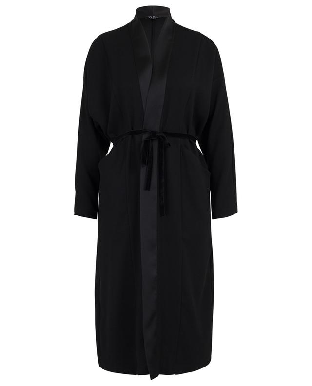 Viva lightweight belted satin coat TOUPY