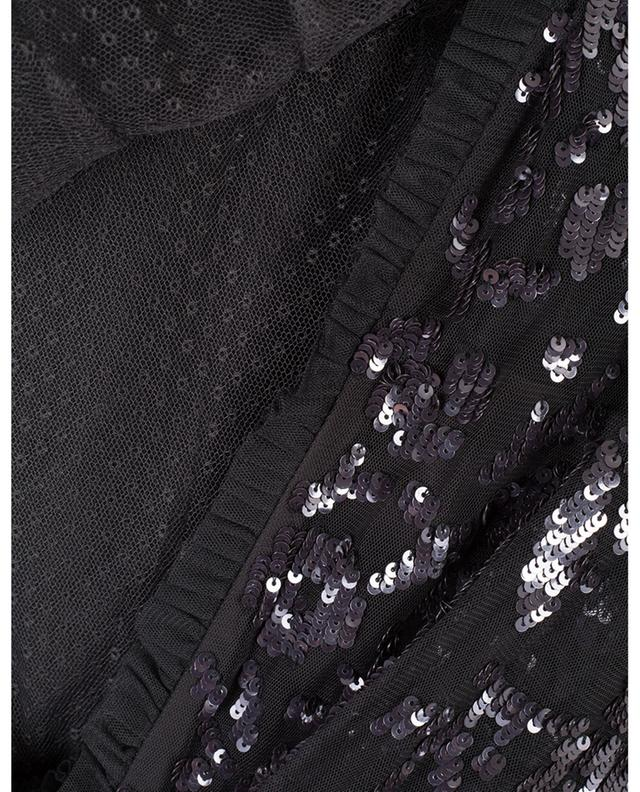 Ava Bodice sequins adorned long tulle dress NEEDLE &THREAD