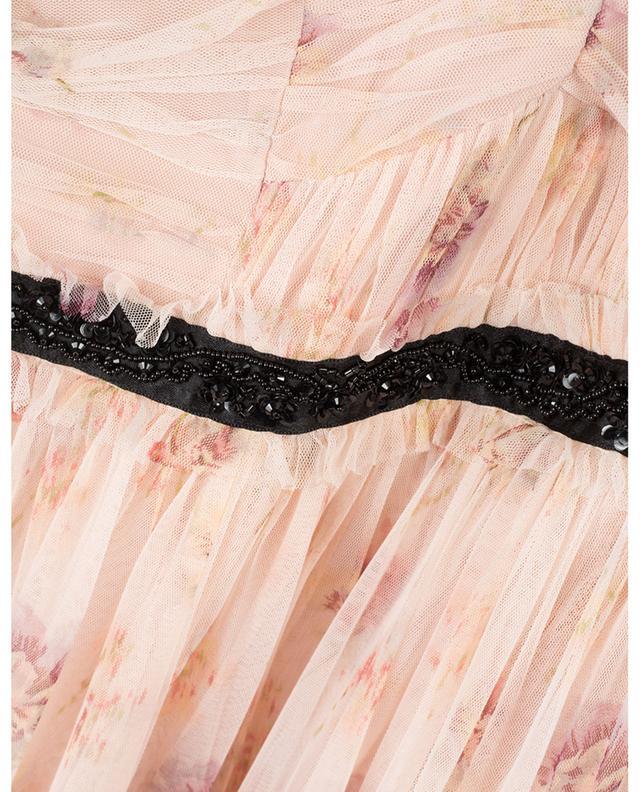 Think of Me Arabesque floral tulle midi dress NEEDLE &THREAD