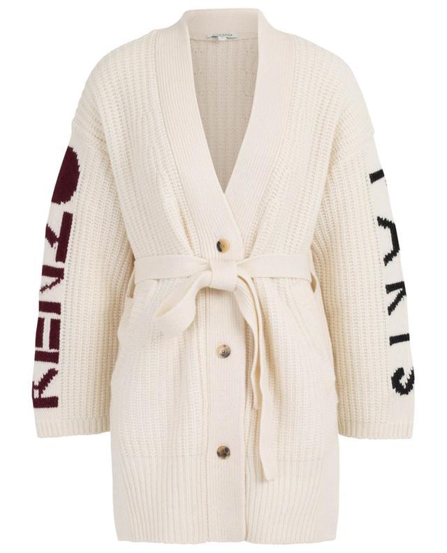 Cardigan oversize détail jacquard Kenzo Paris KENZO