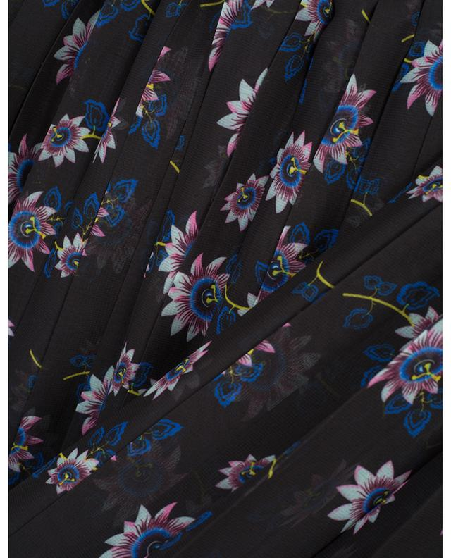 Passion Flower floral pleated midi skirt KENZO