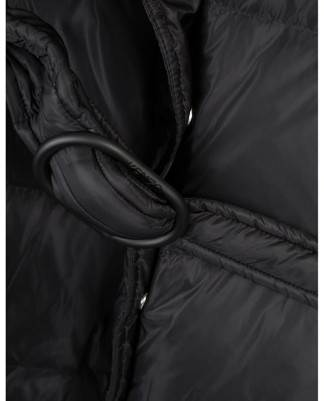 Doudoune courte avec ceinture et capuche KENZO