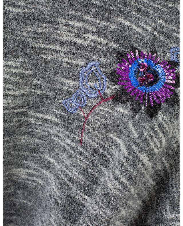 Pull en alpaga mélangé brodé de sequins Passion Flower KENZO