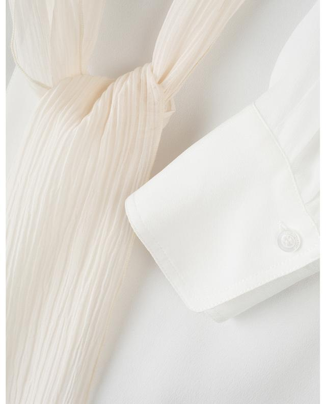 Crêpe shirt with crinkled neck tie SEE BY CHLOE