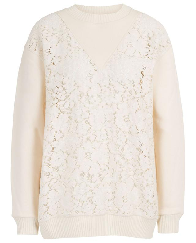 Loose sweatshirt with lace yoke SEE BY CHLOE