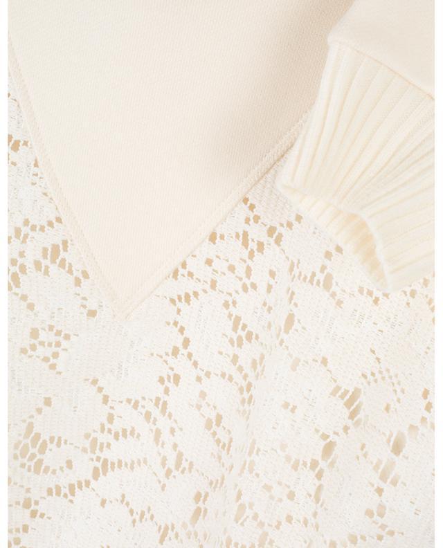 Sweat-shirt ample avec empiècement en dentelle SEE BY CHLOE