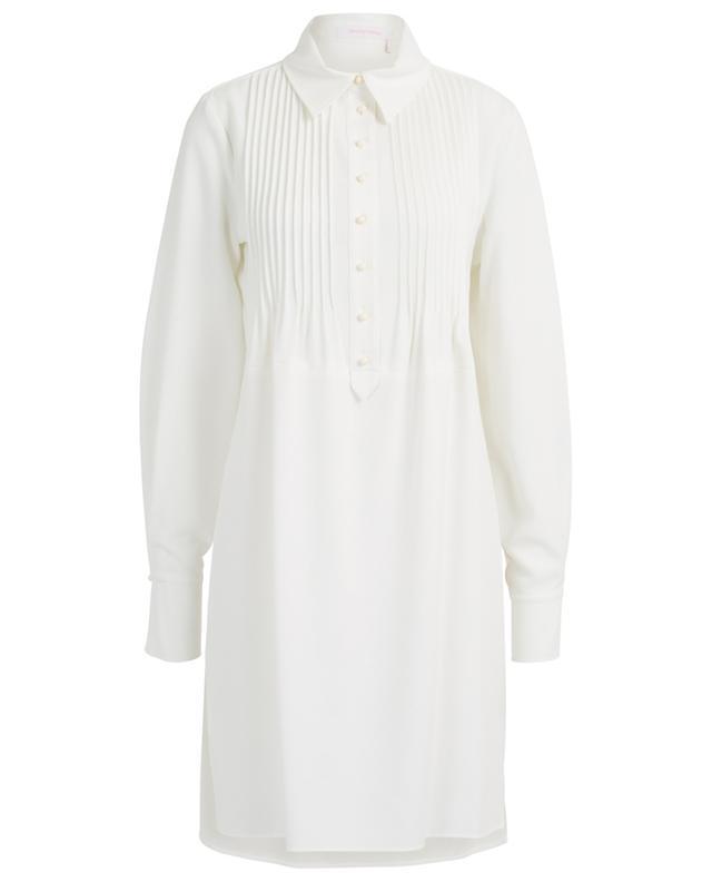 Crepe shirt dress with pintucks SEE BY CHLOE