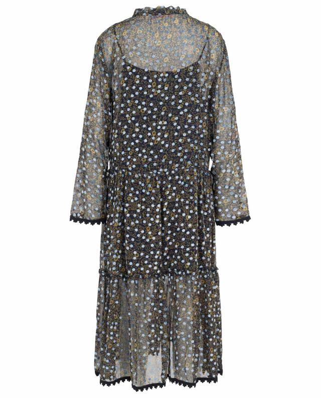 Micro Floral long dress with velvet dots SEE BY CHLOE