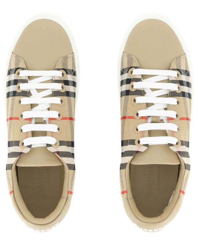 Materialmix-Sneaker mit House Check Print Albridge BURBERRY