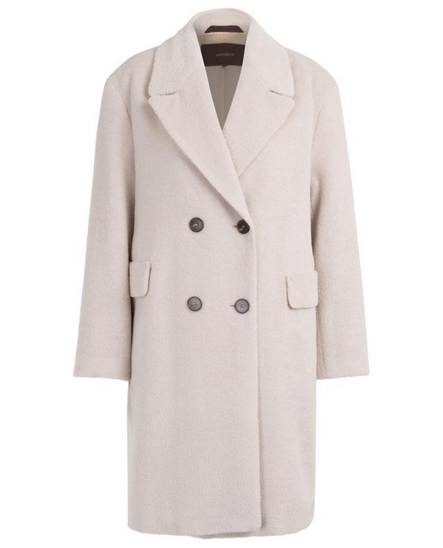 Double-breasted alpaca and virgin wool coat WINDSOR