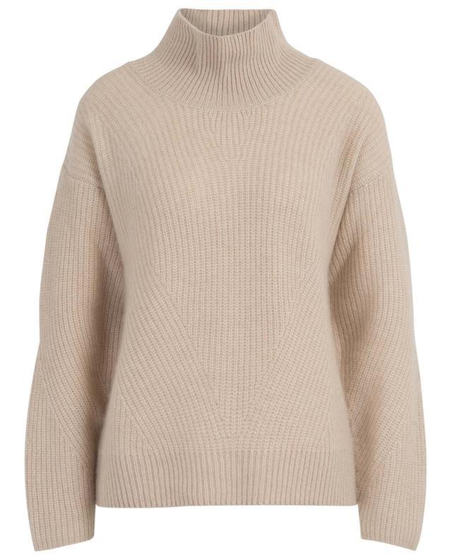 Rib knit mock collar cashmere jumper WINDSOR