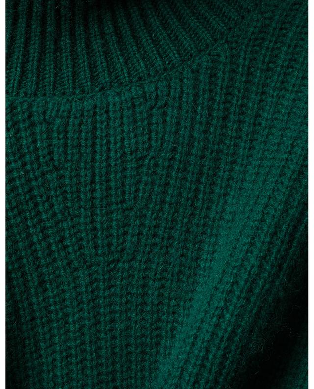 Rib knit mock collar cashmere jumper WINDSOR