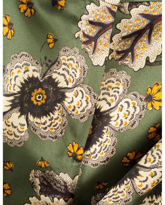 Pantalon palazzo en satin fleuri ETRO