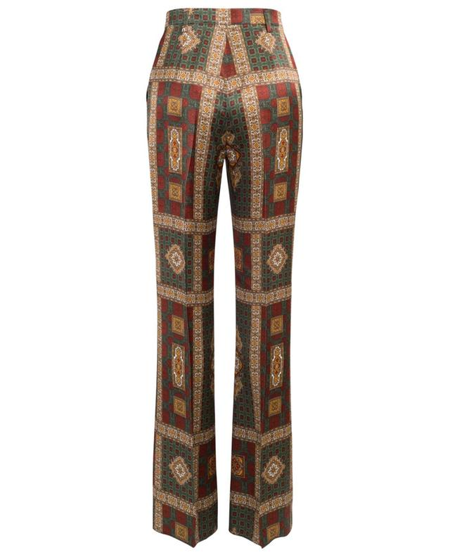 Pantalon palazzo en satin imprimé foulard ETRO