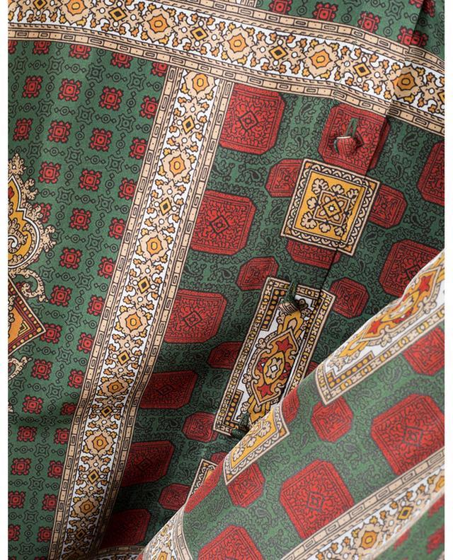 Scarf Print silk twill blouse with necktie ETRO