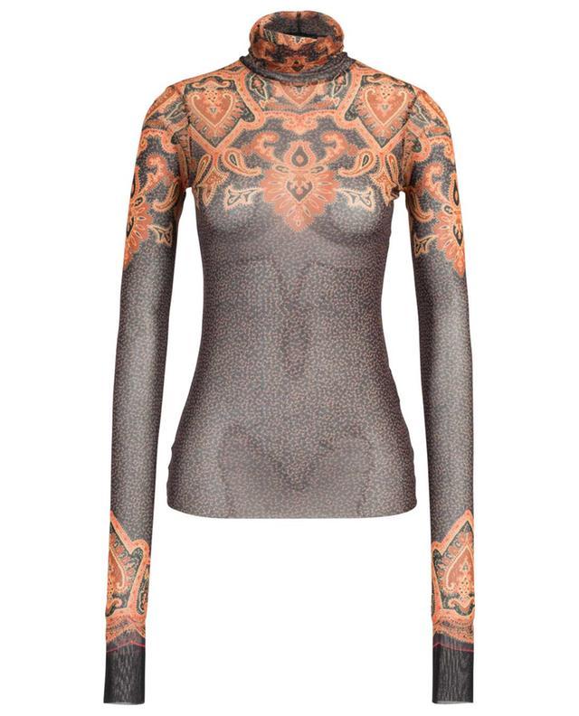Tattoo-effect semi-sheer top ETRO