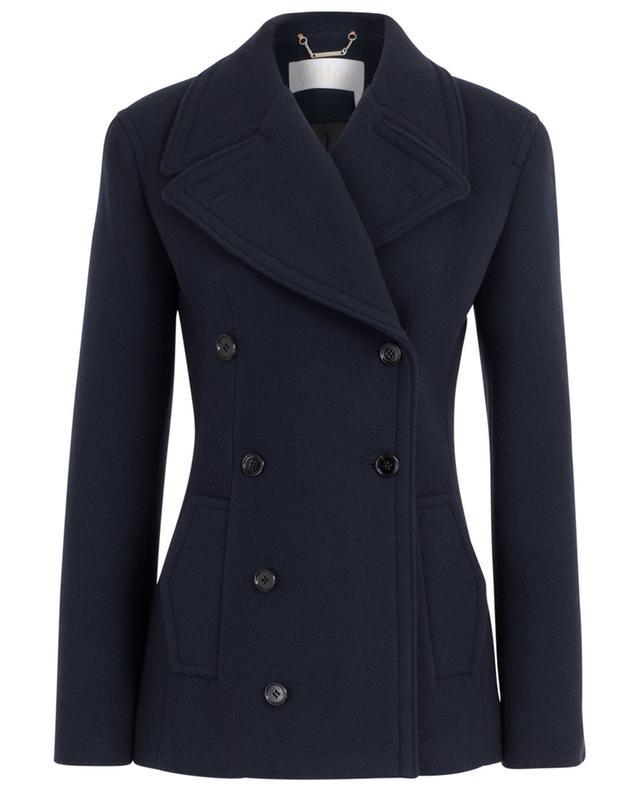 Double-breasted virgin wool pea coat CHLOE