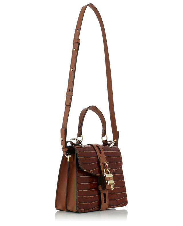 Aby Day Small croc embossed leather shoulder bag CHLOE