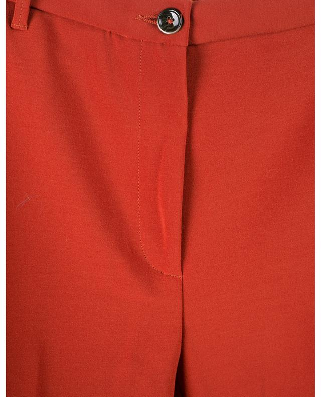 Rust viscose blend pleated trousers NINE IN THE MORNING