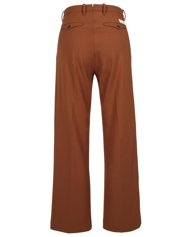 Moka straight wool blend trousers with pleats NINE IN THE MORNING
