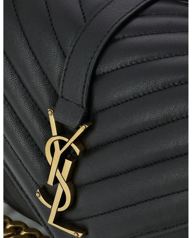 College Medium quilted grained leather handbag SAINT LAURENT PARIS