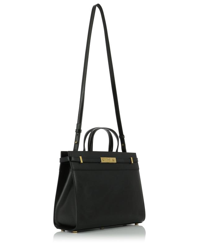 Manhattan Small stiff leather tote bag SAINT LAURENT PARIS