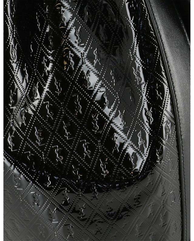 Monogram All Over bucket bag in patent leather SAINT LAURENT PARIS