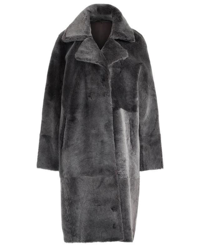 Manteau réversible en peau lainée à boutons aimantés SLY 010