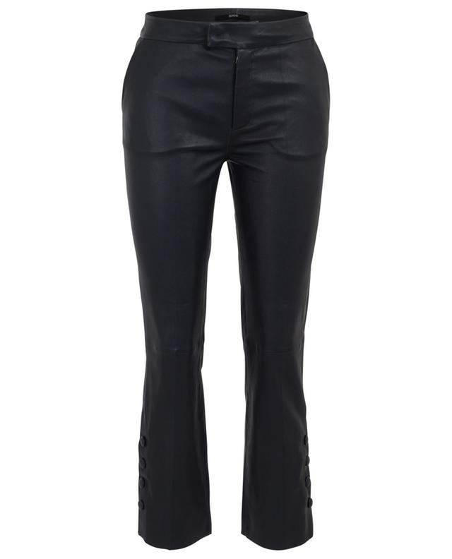 Cropped leather trousers with buttoned ankles SLY 010