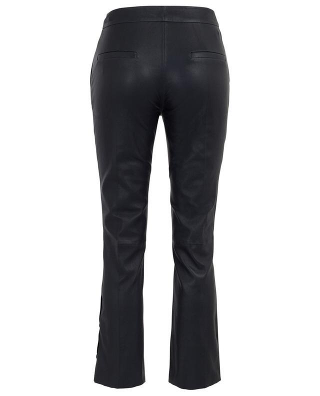 Pantalon raccourci en cuir boutonné aux chevilles SLY 010