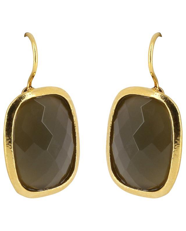 Boucles d'oreilles serties de pierres facettées MIS 15 POGGI