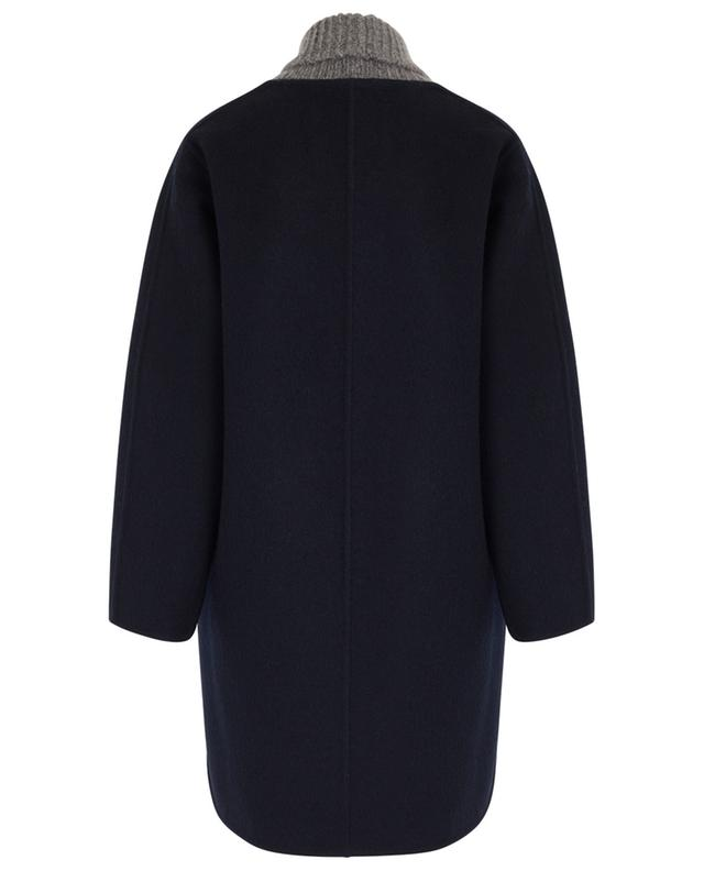 Woll and mohair coat with glittering rib trims FABIANA FILIPPI