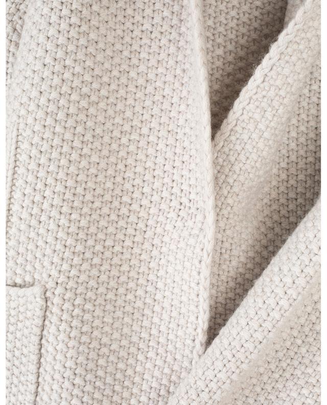 Blazer tricot en laine, soie et cachemire FABIANA FILIPPI