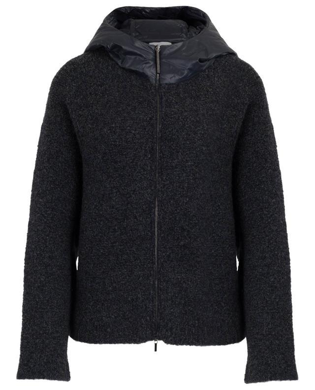 Veste en maille bouclée en laine avec capuche FABIANA FILIPPI