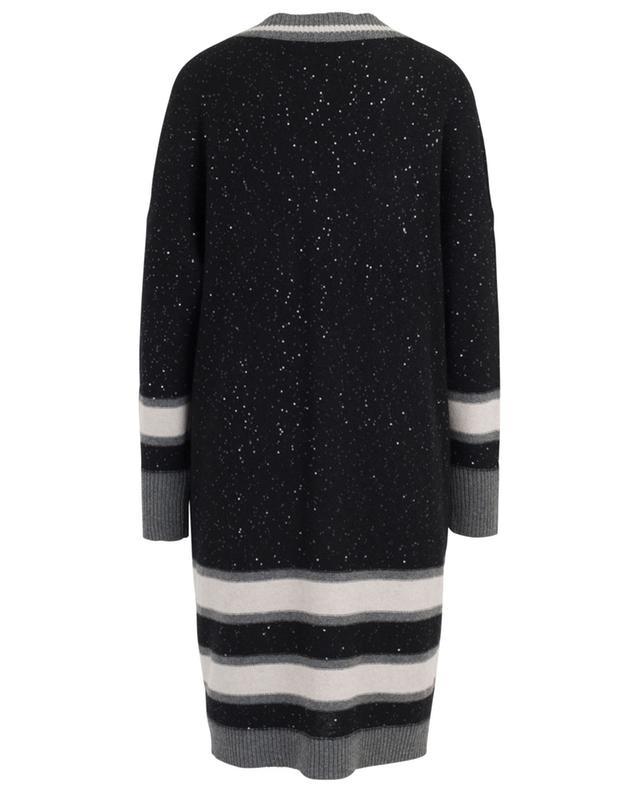 Robe-pull à col en V en laine vierge mélangée FABIANA FILIPPI